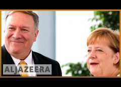 Iran, Syria on agenda as Pompeo meets Germany's Merkel